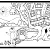 Treehouse Coloring Sheet – Activity Sheet